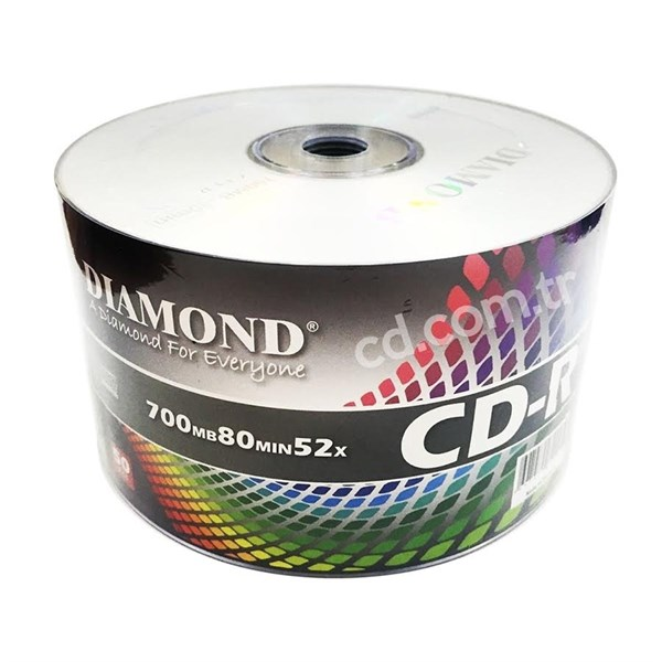 Diamond CD-R, 52X, 700MB, 50'li Paket