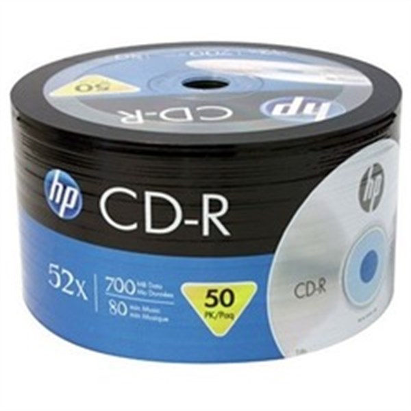 HP CD-R 52X 700MB, 50'Lİ PAKET
