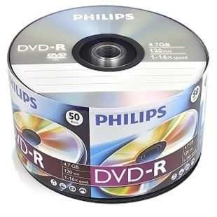 Philips DVD-R, 16X, 4,7GB, 50li Paket